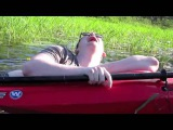 Max Falling Out Of Kayak