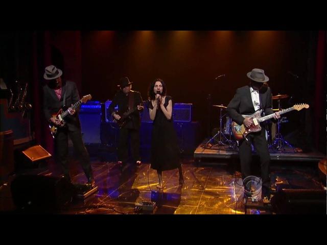 PJ Harvey John Parish - Black Hearted Love (061209 - Letterman) HD