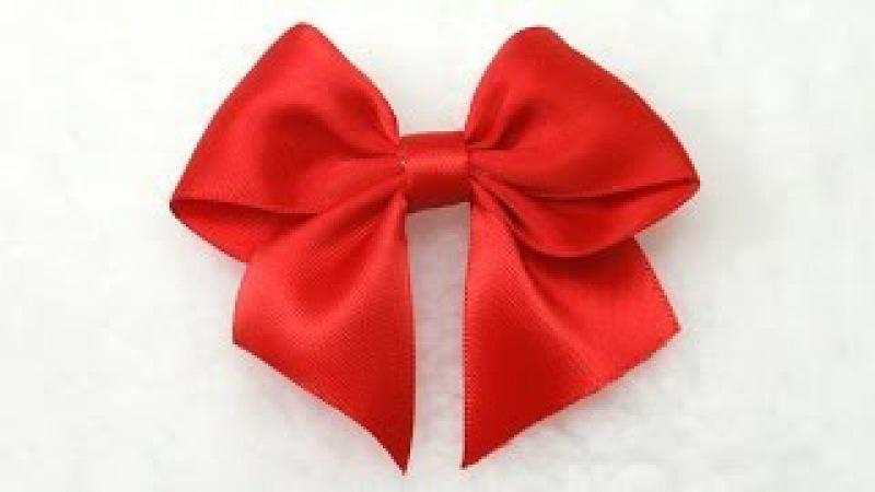 Make Simple Easy Bow, DIY, Ribbon Hair Bow, Tutorial, Bow 3