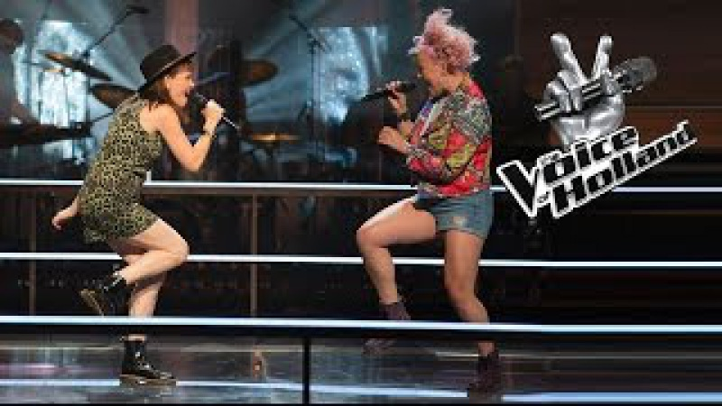 Jennie Lena vs Leonie Bos Roar The Battle The voice of Holland 2015