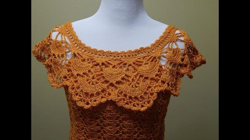 Blusa Crochet para Verano parte 2 de 2