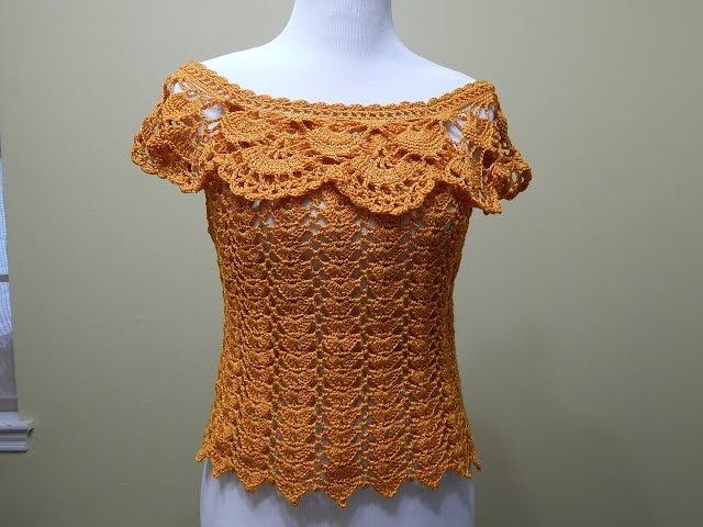 Blusa Crochet para Verano parte 1 de 2