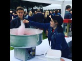 Benjamin Lasnier - Getting my Candy floss made at the American embassy ! 🇺🇸🍧 thanks for having me!