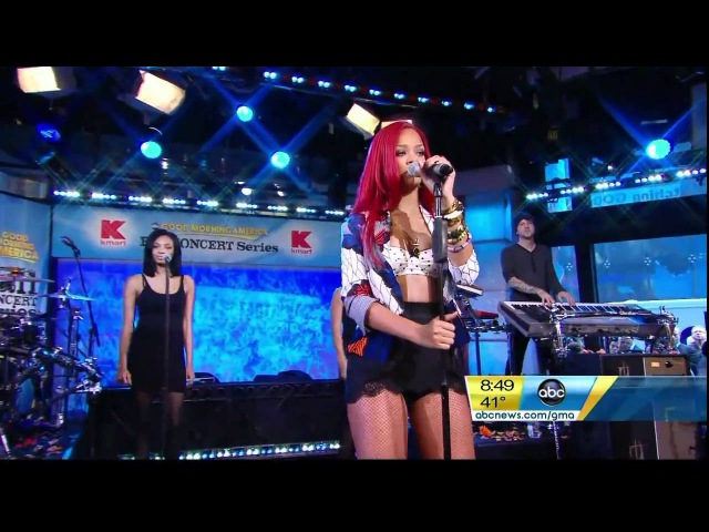 Rihanna Good Morning America (Only Girl ,What's my name?) HD