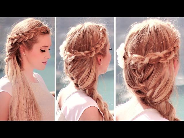 Boho chic hairstyles: dutch crown braid with a french mermaid hair tutorial