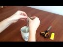 Мастер класс №1 Как завязать бантик на вилке своими руками Hand made 如何配合上插个蝴蝶结?装饰他们的手