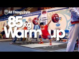 85kg Snatch Warm-up Almaty 2014 World Weightlifting Championships