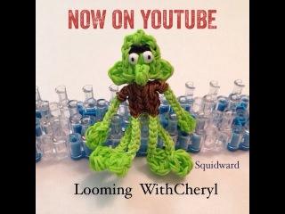 Сквидвард из резинок Rainbow Loom SQUIDWARD - Character from SpongeBob - Looming WithCheryl