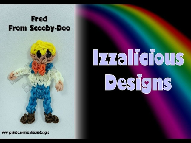 Фред из Скуби-Ду из резинок Rainbow Loom Fred from Scooby-Doo Action Figure/Charm - Gomitas