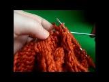 Вязаный шарф спицами.Шарф-труба вязание по кругу.