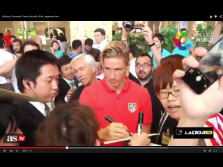 Atletico's Fernando Torres, the idol of the Japanese fans