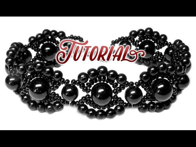 Tutorial: Vintage beaded bracelet / Винтажный браслет из бисера и бусин своими руками