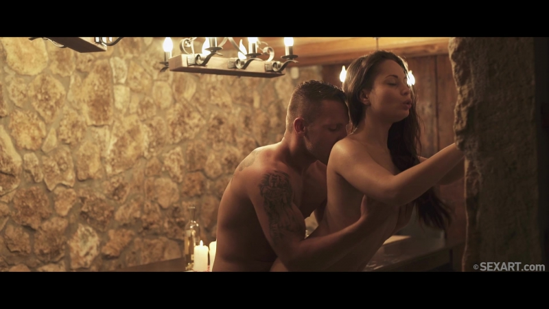 Страстный секс в приглушенном свете (красивый секс, гламур, колготки, в одежде, Sex, Blowjob, Glamour, Lingerie Порно, HD Porn)