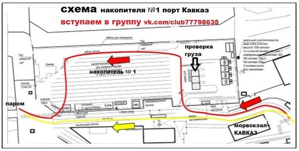 Схема порта Кавказ накопителя