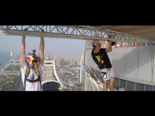Классный бейсджампинг с небоскреба Princess Tower в Дубае