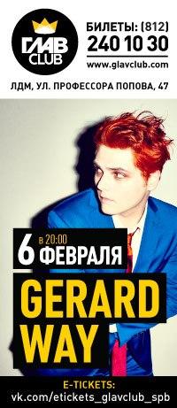 06.02 - Gerard Way - ГЛАВCLUB С-Петербург