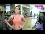 Настасья Самбурская показывает 5 упражнений для укрепления мышц груди