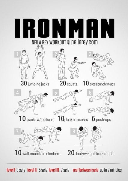 Crossfit тренировки, тренировка железного человека