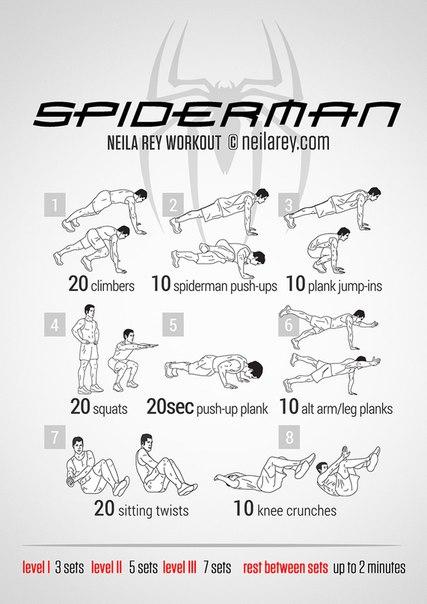 Crossfit тренировки, тренировка человека паука