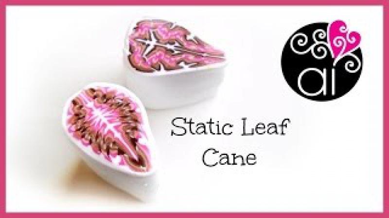 Static Leaf Cane | Tutorial Murrina Foglia | Polymer Clay Cane DIY
