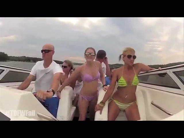 Turn Down For What Fail - Bikini Girls Boat Crash Remix - Original TDFWFail