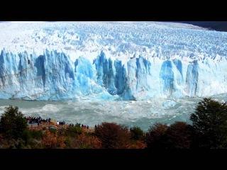 Огромный кусок ледника, волна-цунами и зеваки. Вау! Glaciar Perito Moreno