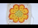 How to Crochet Granny Square Somalia African Flower Paperweight