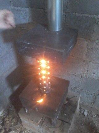 Печь елочка на отработке