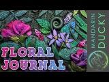 МК Красивая обожка для журнала, блокнота, ежедневника из полимерной глины