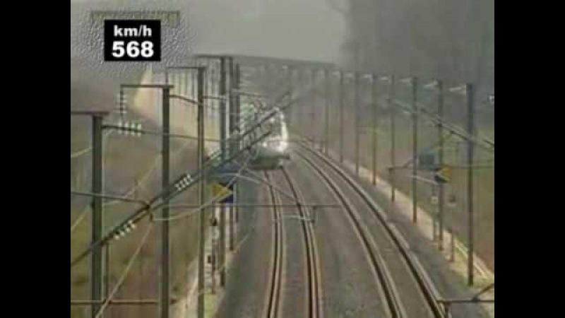 TGV speed record 574 8 km h