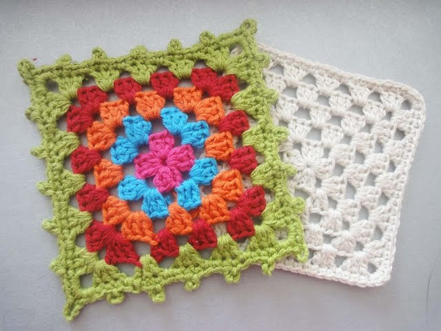 Бабушкин квадрат Grandmother square Crochet