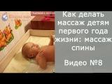 Как делать массаж детям первого года жизни: массаж спины