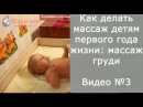 Как делать массаж детям первого года жизни: массаж груди