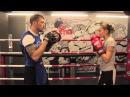 Работа на лапах в боксе Урок 1 тренировка для начинающих от Андрея Басынина
