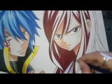 Speed Drawing - Jellal Fernandes and Erza Scarlet (Fairy Tail)