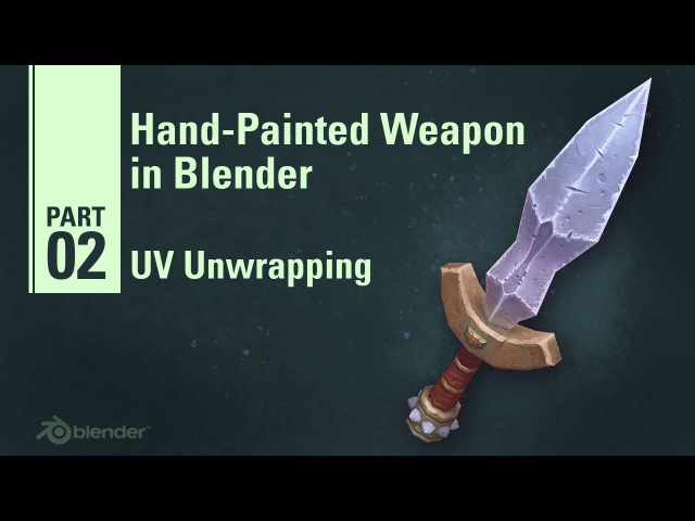 UV Unwrapping - Hand Painted Weapon in Blender 29