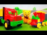 Мультики про машинки и паровозики. Грузовичок и Мишка. Подарки на день рождения. Видео для детей.