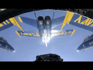 Video from the Slot position during the Diamond Half Squirrel Cage maneuver on take-off.