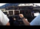 Blue1 717 Cockpit Landing ARN-HAM