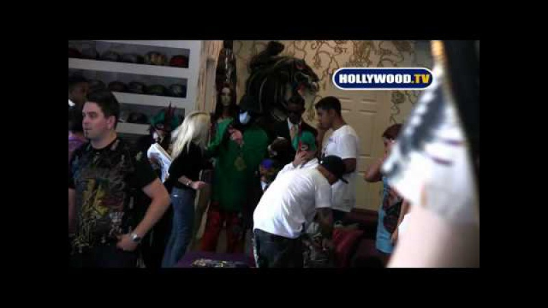 Michael Jackson and His Masked Children Shop at Ed Hardy