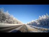 дорога по зимнему Уралу