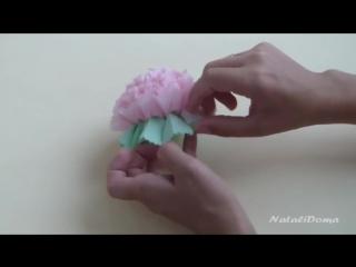Мастер класс!! Замечательное украшение праздничного стола - цветы из салфеток.