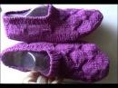 Следки от мыска прямыми и круговыми спицами ч 1 slippers knitting from the toe part 1