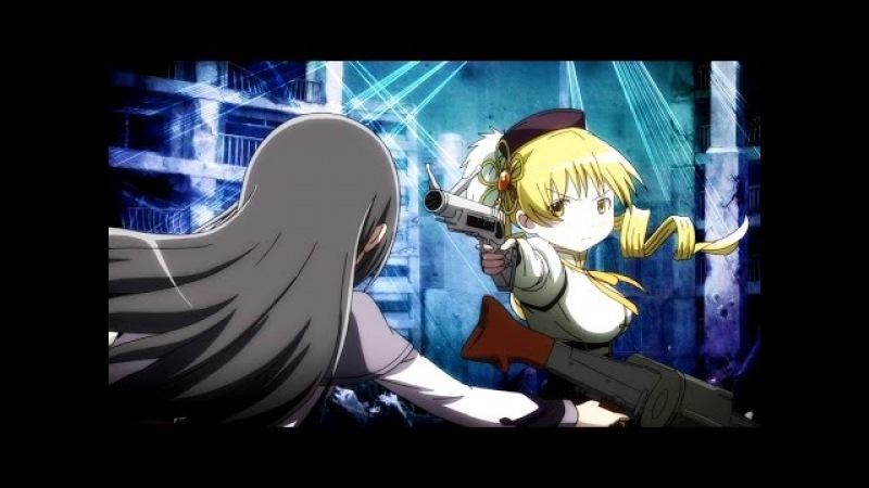 Puella Magi Madoka Magica: Rebellion - Homura vs Mami 60fps FI - sub ESP ENG