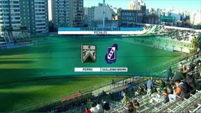 Fútbol en vivo. Ferro - Guillermo Bown. Fecha 25 del torneo de Primera B Nacional. FPT.