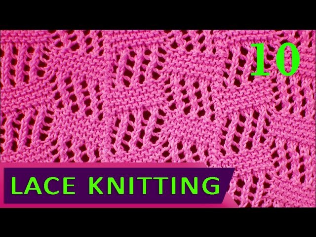 Tilted Block   Lace Knitting Stitch 10