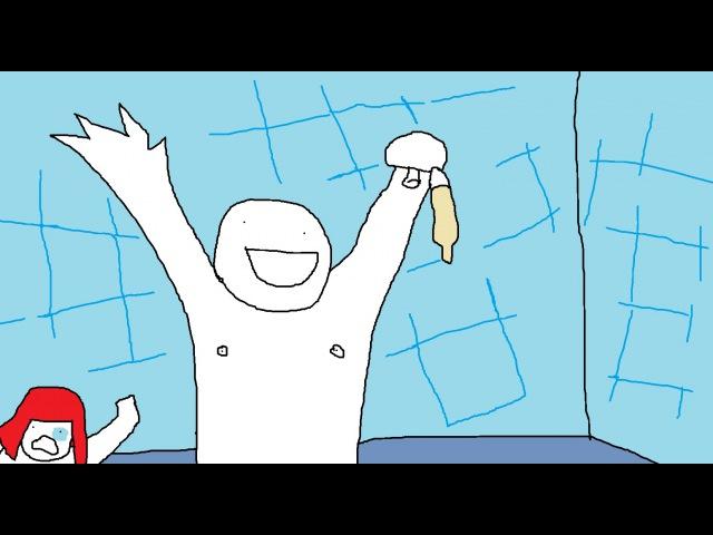 ЯНУР - Битард пиздится с милфой за гандон со спермой, просто пиздец
