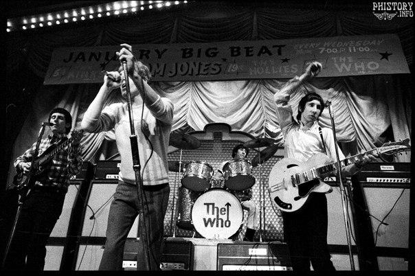 Выступление The Who. Манчестер. Графство Большой Манчестер. Соединенное Королевство Великобритании и Северной Ирландии. 1966 год.
