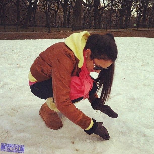 Девушка зима картинки на аву