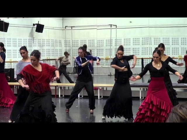 LA LUPI. Ensayo de Fonda de Carmencita, Tangos (Zaguán). Ballet Nacional de España